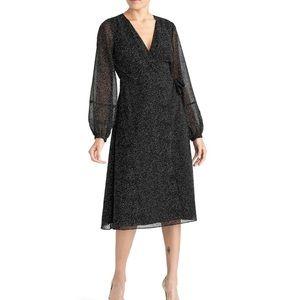 Rachel Roy collection polka dot surplice dress